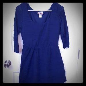 Juniors Navy Textured Dress
